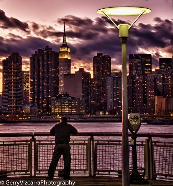 Gantry State Park NYC Skyline Sunset