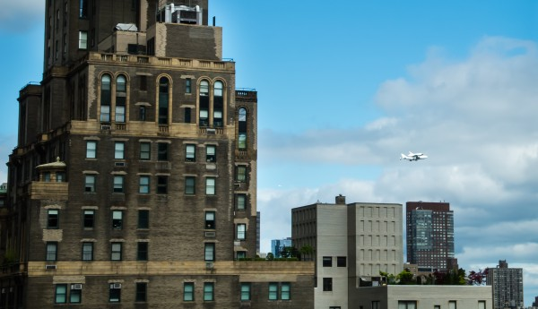 Shuttle Enterprise Flyover NYC