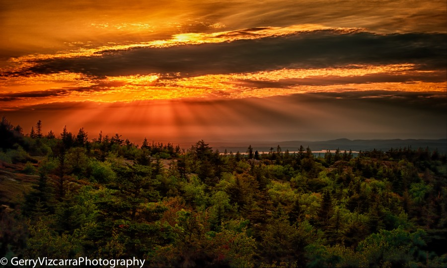 Acadia National Park, Cadillac Mountain, Mount Desert Island, Maine